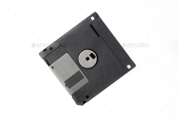 Black floppy disk - Stock Photo - Images