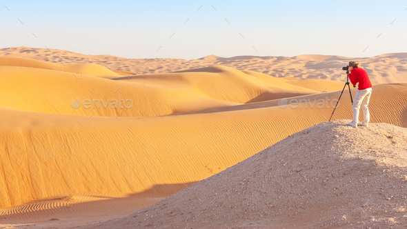 Photography in the Empty Quarter - Stock Photo - Images