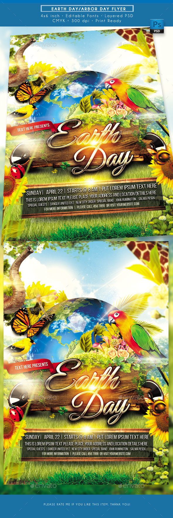 Earth Day Flyer - Holidays Events