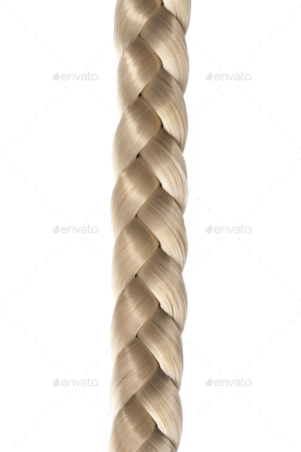 Long blond hair braid - Stock Photo - Images