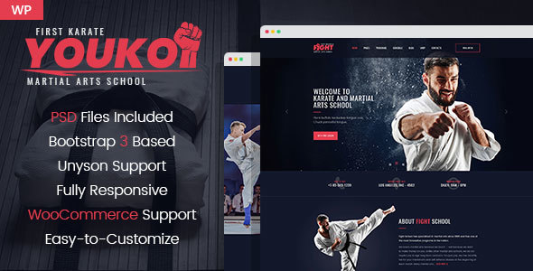 Image of Youko - Martial Arts WordPress Theme