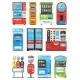 Vending Machine Vector Vend Food or Beverages - GraphicRiver Item for Sale