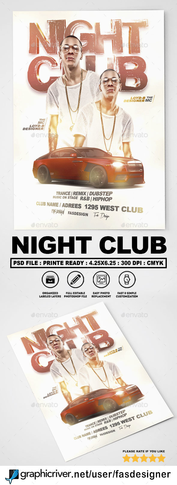 Night Club Flyer v2 - Clubs & Parties Events