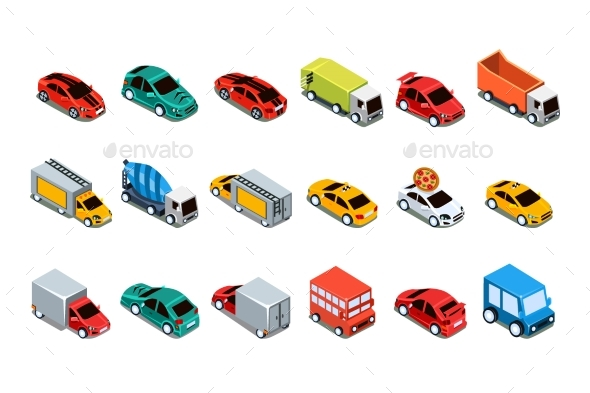 Urban Cars and Vehicles Set - Miscellaneous Vectors