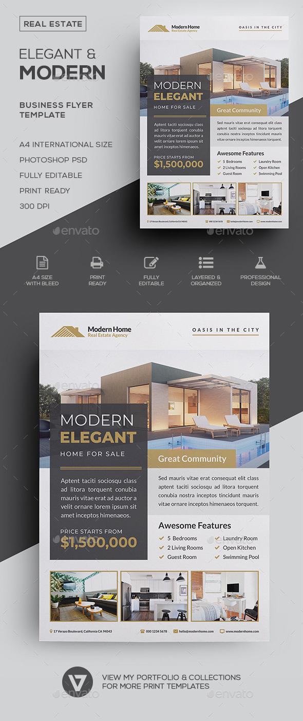 Real Estate Flyer by verazo | GraphicRiver