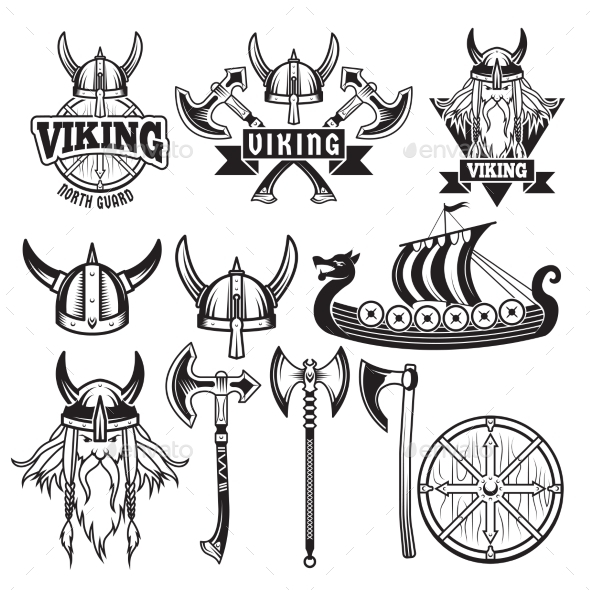 Medieval Warriors and His Weapons - Decorative Symbols Decorative