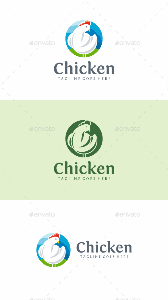 Chicken Farm - Animals Logo Templates
