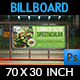 Salad Restaurant Billboard Template - GraphicRiver Item for Sale