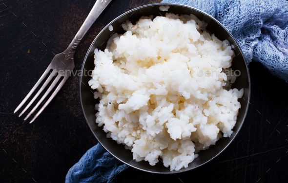 boiled rice - Stock Photo - Images