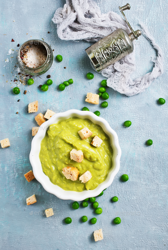 mashed green peas - Stock Photo - Images