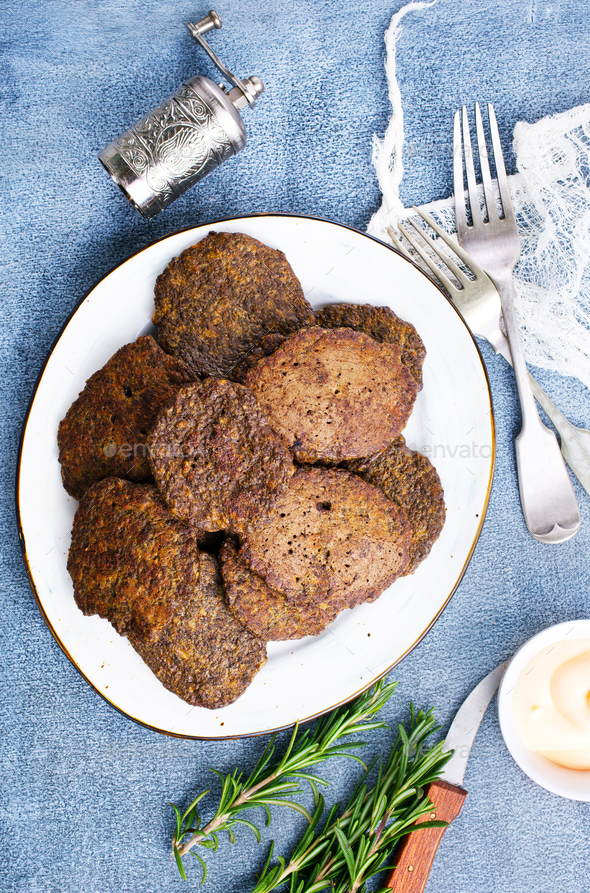 liver pancakes - Stock Photo - Images