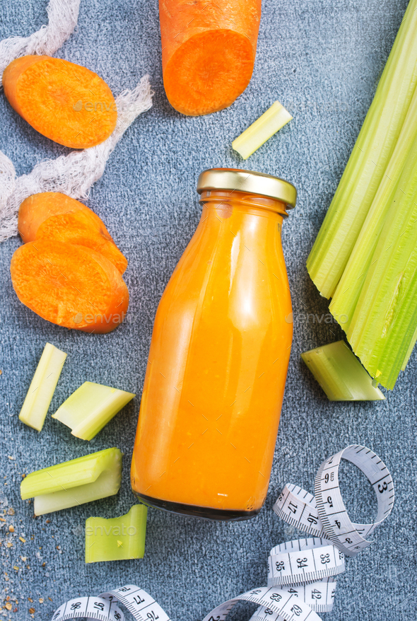 carrot smoothie - Stock Photo - Images