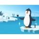 Illustration of Little Penguin Fishing