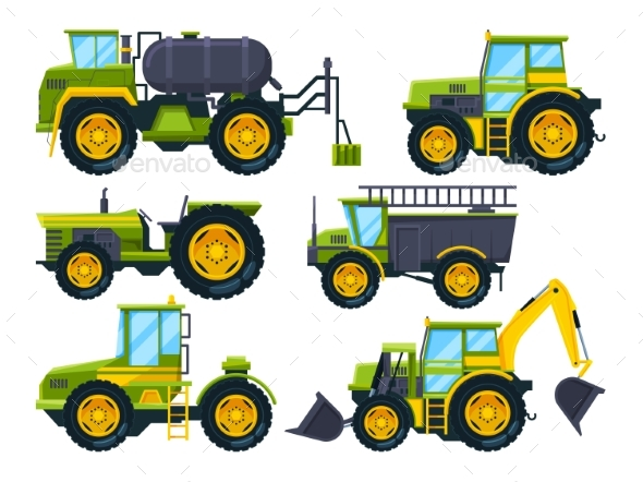 Agricultural Machinery - Man-made Objects Objects