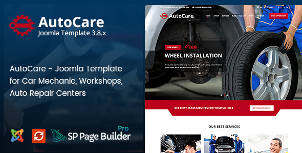 Image of Auto Care - Joomla Template for Car Mechanic, Workshops, Auto Repair Centers
