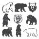 Monochrome Illustrations of Stylized Bears