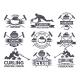 Monochrome Badges of Curling