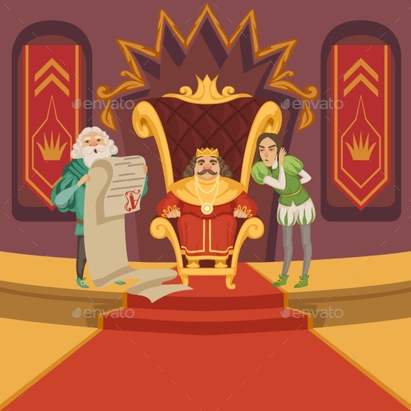 King on the Throne  - People Characters