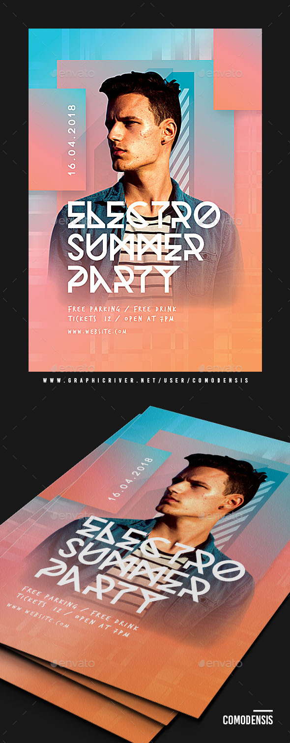 Dj Summer Party Flyer - Clubs & Parties Events