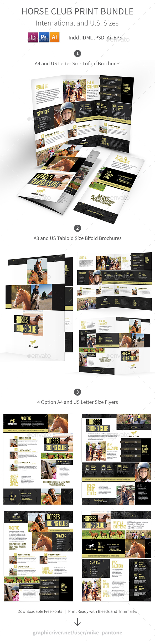 Horse Club Print Bundle - Informational Brochures