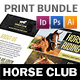 Horse Club Print Bundle - GraphicRiver Item for Sale