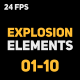 Liquid Elements 2 Explosions 01-10 - VideoHive Item for Sale