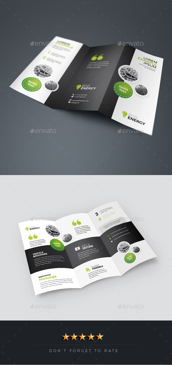 Creative Business Tri-Fold Brochure - Corporate Brochures