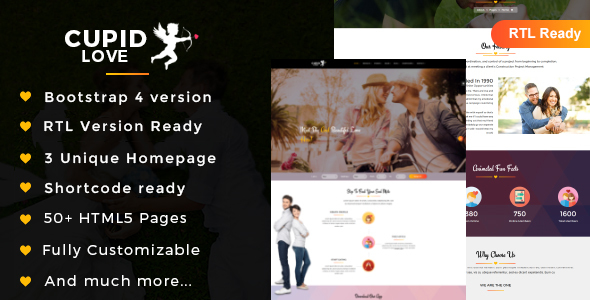 CUPID LOVE - Dating Website HTML5 Template - Business Corporate