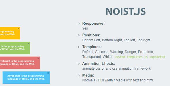 Noist.js - Flat Notification Messages - CodeCanyon Item for Sale