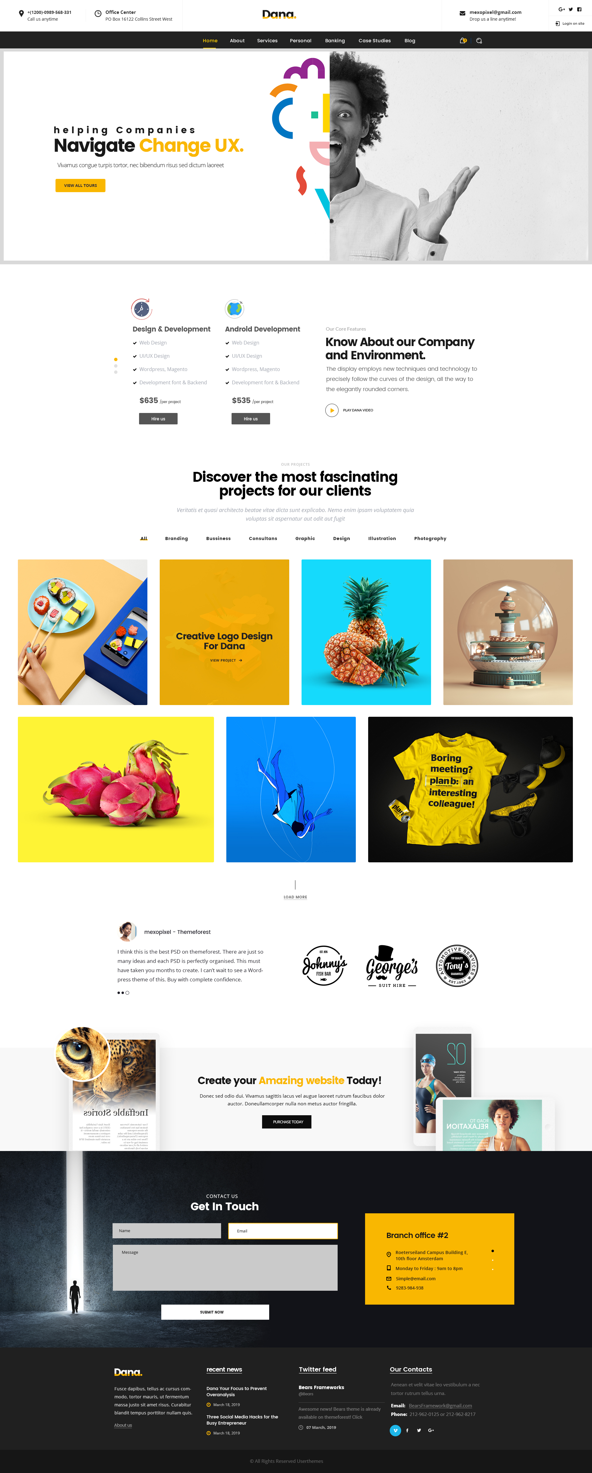 Facebook Landing Page Psd Template