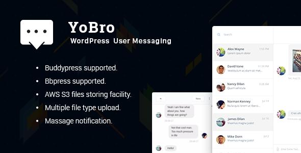 YoBro WordPress Multi User Private Messaging Plugin - CodeCanyon Item for Sale