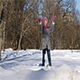 Little Girl Having Fun in Winter City Park - VideoHive Item for Sale