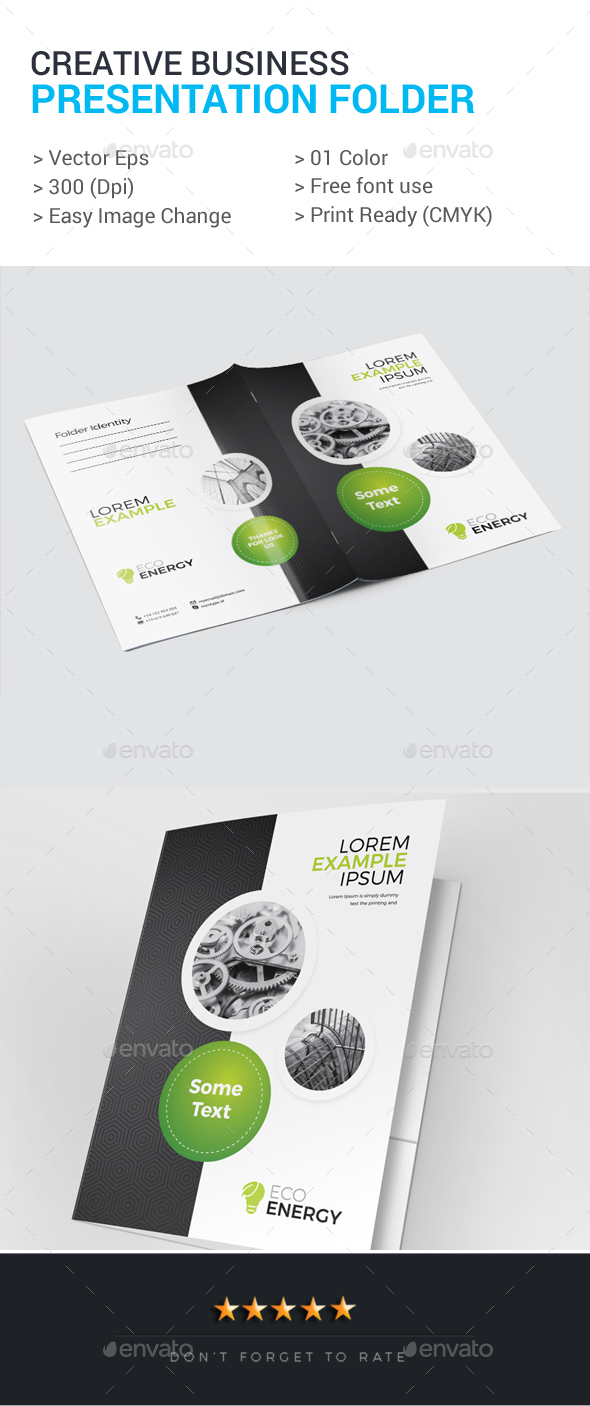Creative Business Presentation Folder - Stationery Print Templates