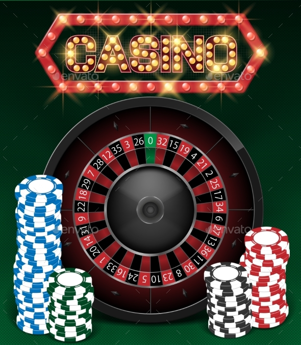 Casino Gambling Background Design with Realistic - Backgrounds Decorative