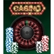 Casino Gambling Background Design with Realistic