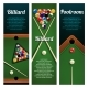 Billiards Sport Club or Pool Room Banner with Ball - GraphicRiver Item for Sale