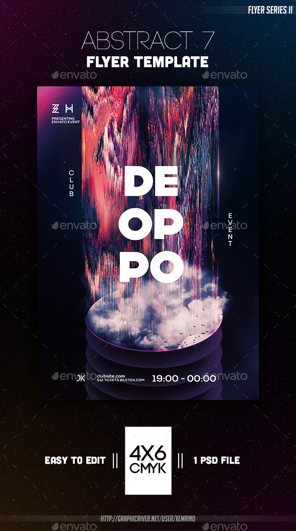 Abstract 7 Flyer Template - Clubs & Parties Events