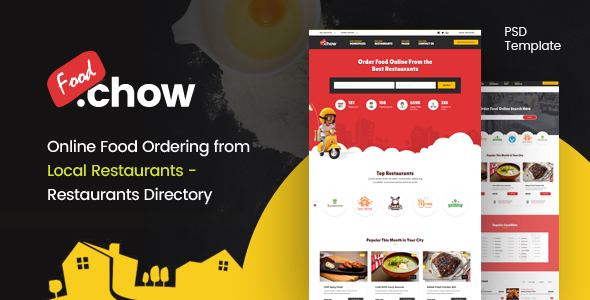 FoodChow - A Food Ordering PSD Template by webinaneHTML | ThemeForest