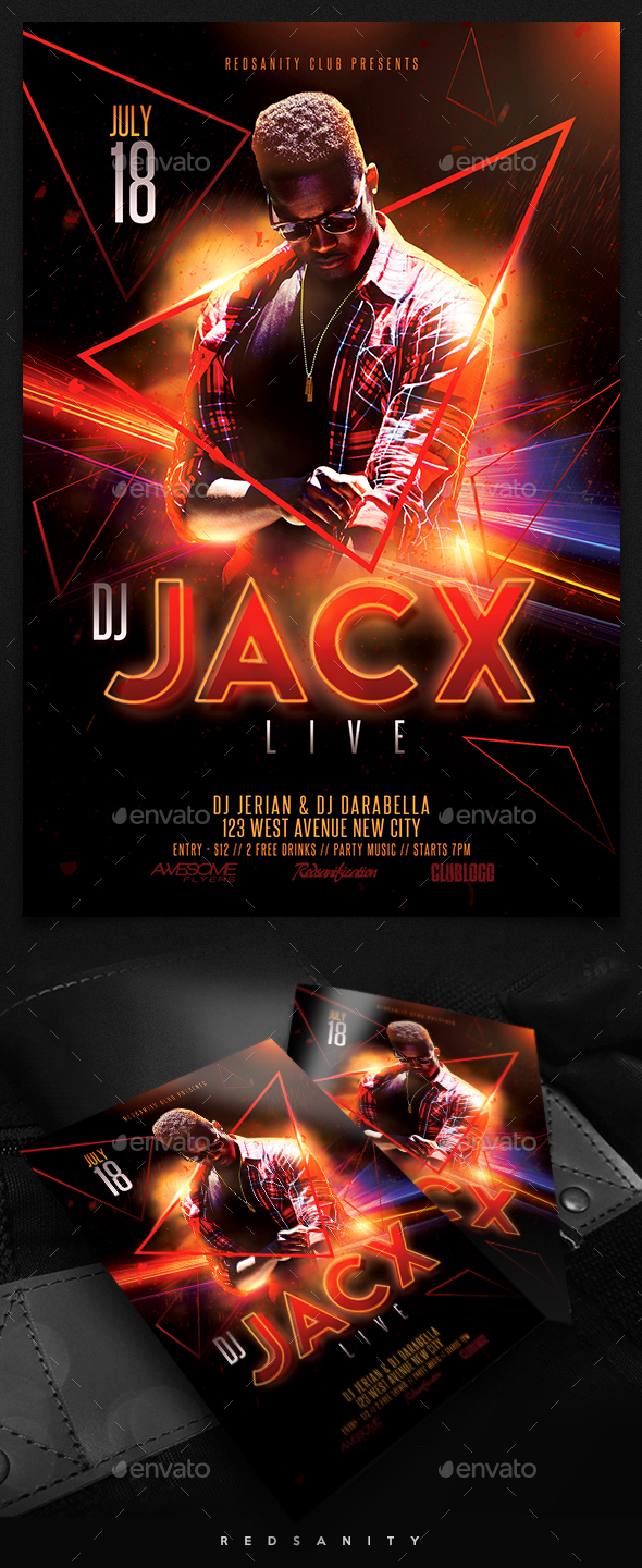 Guest DJ / Artist Flyer - Clubs & Parties Events