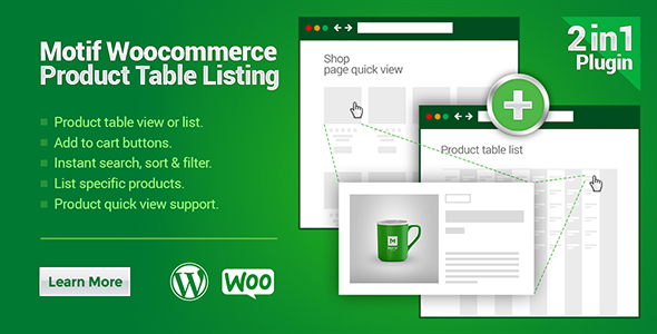 Woo Product Table Listing - CodeCanyon Item for Sale