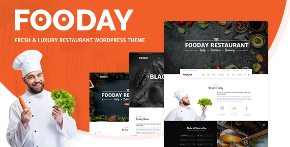 Fooday - Fresh & Luxury Restaurant, Coffee WordPress Theme - Restaurants & Cafes Entertainment