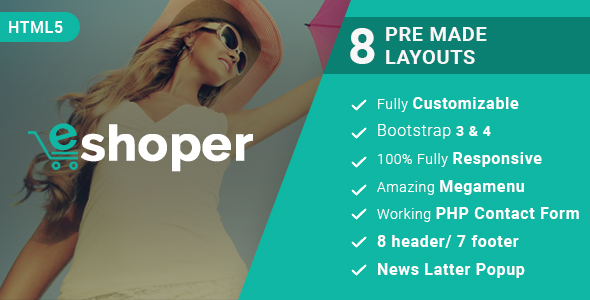 Eshoper - Responsive Multipurpose E-Commerce HTML5 Template - Retail Site Templates