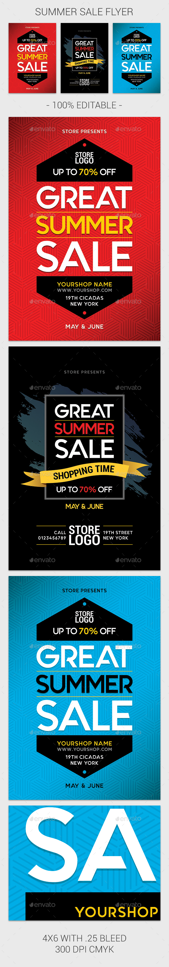 Summer Sale - Events Flyers