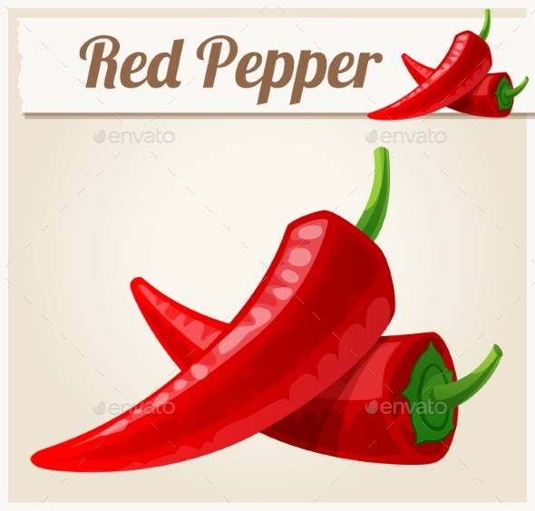 Red Spicy Peppers - Food Objects