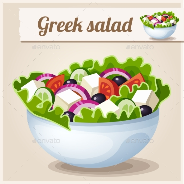 Greek Salad - Food Objects