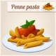 Penne Pasta with Tomato Sauce - GraphicRiver Item for Sale