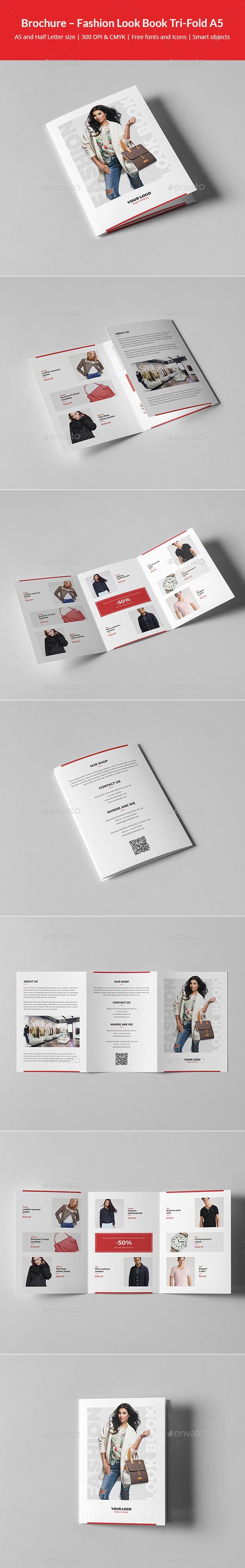 Brochure – Fashion Look Book Tri-Fold A5 - Informational Brochures