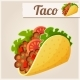 Mexican Taco - GraphicRiver Item for Sale
