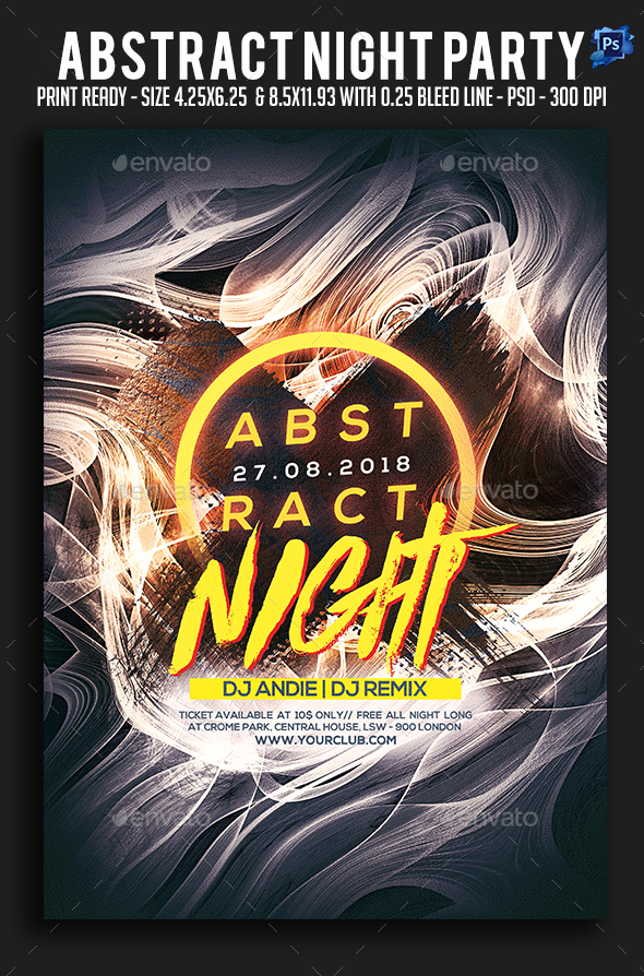Abstract Night Party Flyer - Clubs & Parties Events