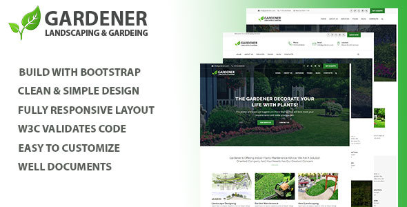 Gardener - Gardening and Landscaping HTML Template - Business Corporate